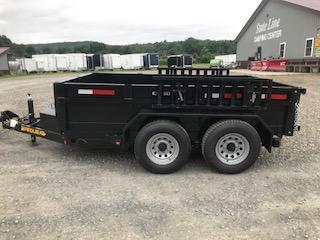 2019 Pequea C1500 Dump Trailer 6X10 9999 GVWR Split Rear Door w/Ramps