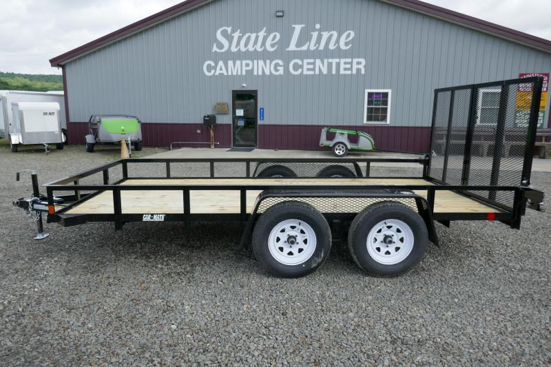 2020 Car Mate Trailers CM614A-HD/W Tandem Axle Utility Trailer