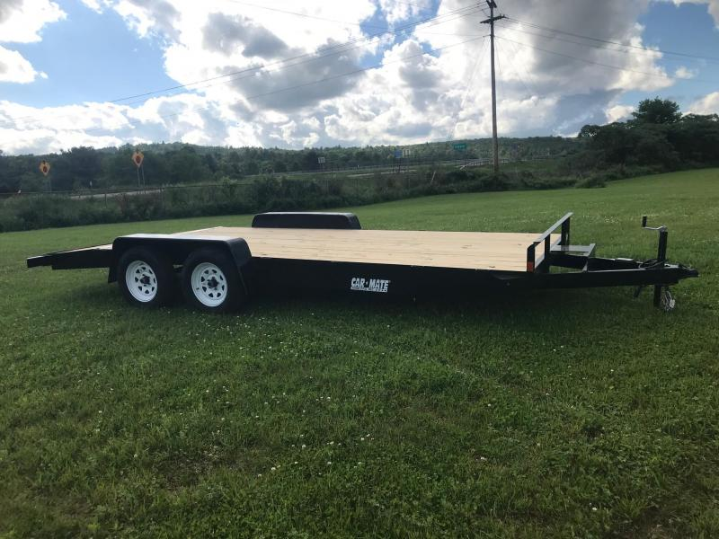 2019 Car Mate Trailers CM818A-CT/W Full Treated Plank Deck Car / Racing Trailer