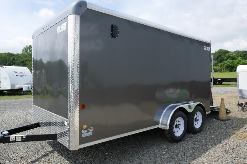 2019 Car Mate Trailers CM714CC-HD - 7'W Tandem Axle Custom Cargo Trailer Enclosed Cargo Trailer