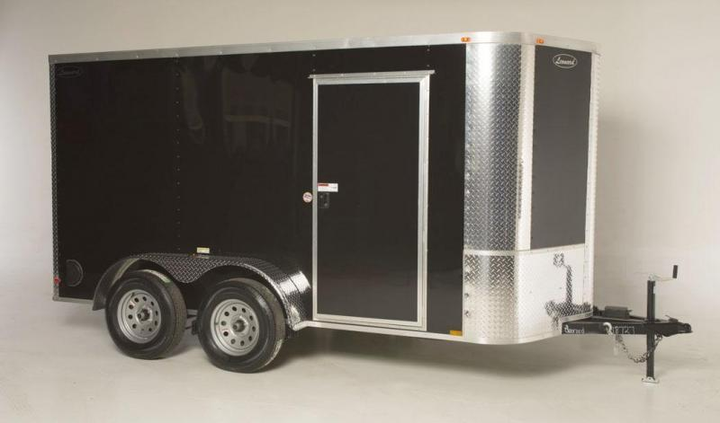 6x12 Tandem-Axle Cargo Trailer. Aluminum body with V-Nose. Built to last!