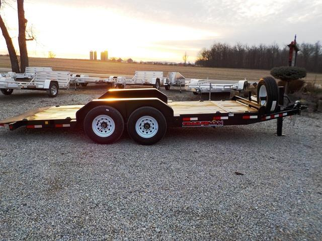 2018 Trailerman Trailers Inc. CTT7216N14 Cushion Tilt Equipment Trailer