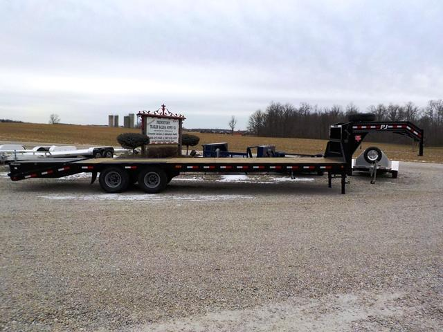 2019 PJ Trailers LDR30D2BSW00T 25' + 5' GN FLATBED Equipment Trailer