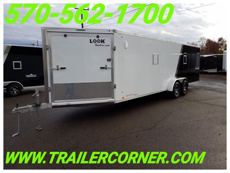2019 Look Trailers AWVF 7X29 ALUMINUM Snowmobile Trailer