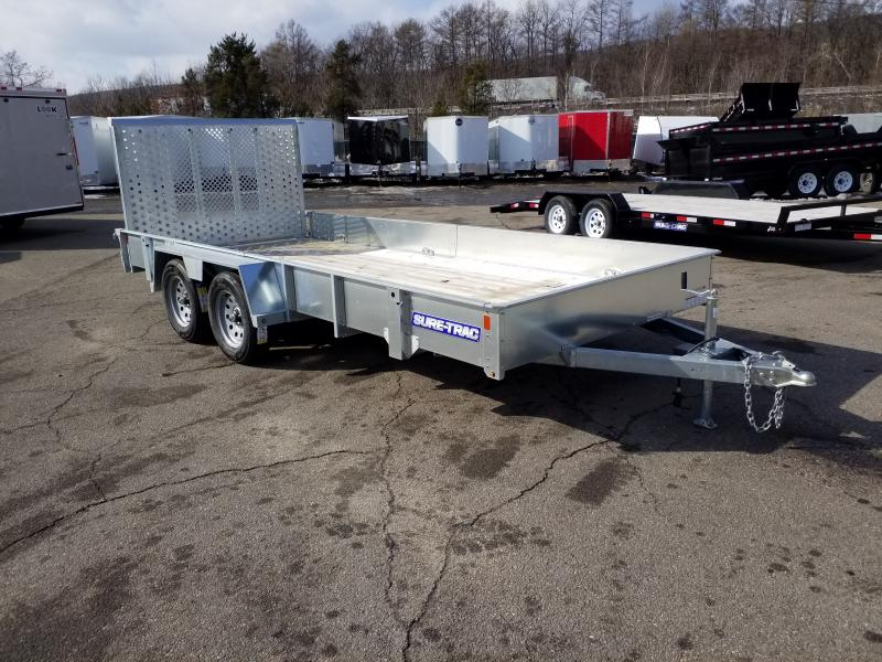 2018 Sure-Trac 7 x 16 Galvanized High Side  7K GVWR
