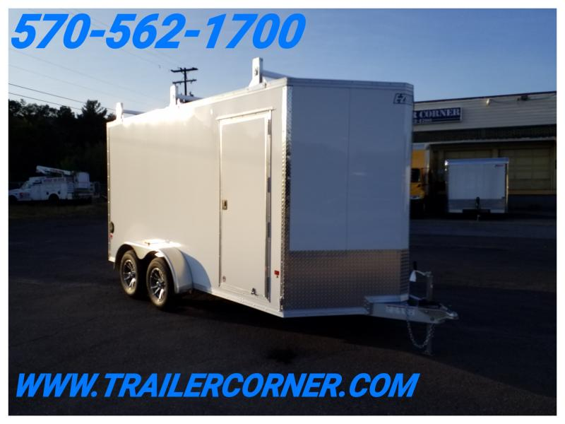 2018 Mission 7X14 ALUM 7K LADDER RACKS Enclosed Cargo Trailer