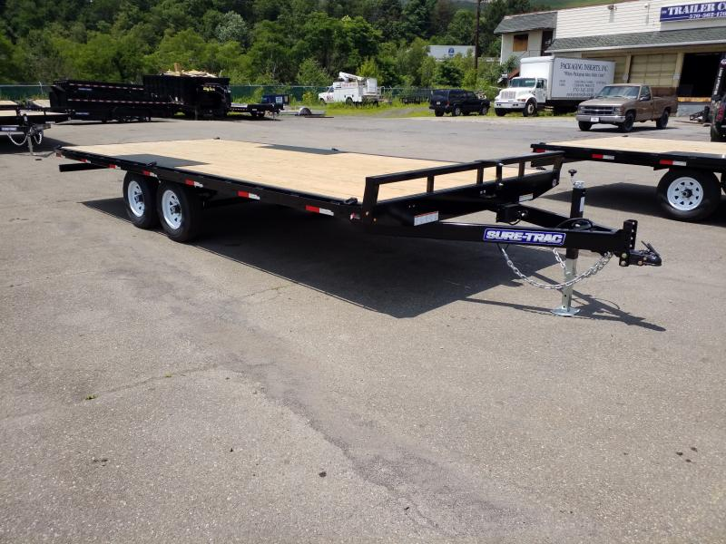 2019 Sure-Trac 20' 10K DECKOVER Flatbed Trailer