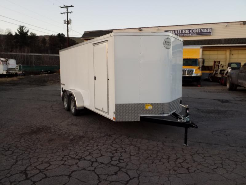 2019 Wells Cargo FT 7X16 RAMP DOOR Enclosed Cargo Trailer