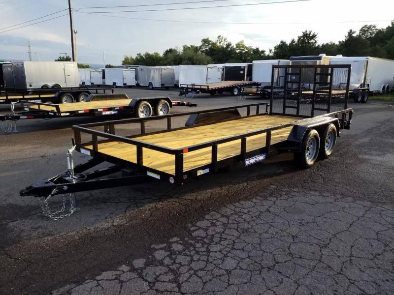 2020 Sure-Trac 7X18 7K TUBE TOP Utility Trailer