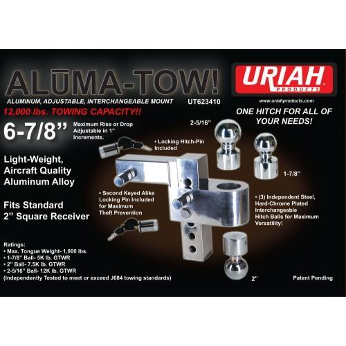 6'' DROP ALUMINUM 12K HITCH