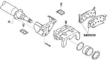 6450039 Brake Pads - Hydraulic Disc