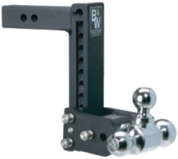 7350374 B&W Hitch Brand Adjustable Ball Mount - Tow & Stow