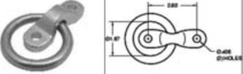 7500158 D-Rings & Rope Rings
