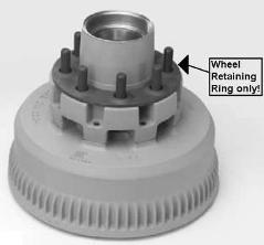 7700033 Replacement Wheel Retaining Rings & Rim Clamp
