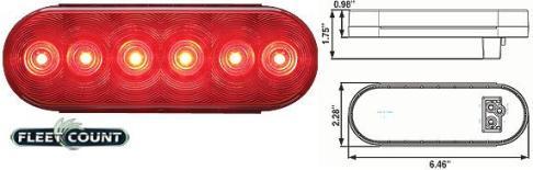 8100627 LED Stop, Turn & Tail Light