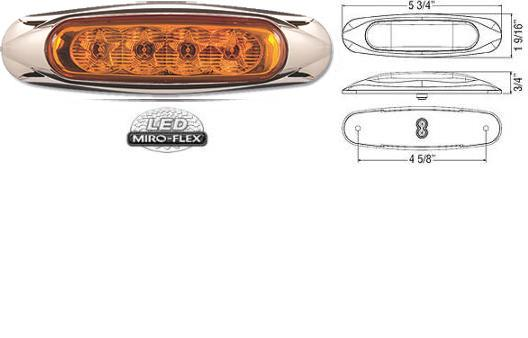 8100636 LED Clearance Marker Light