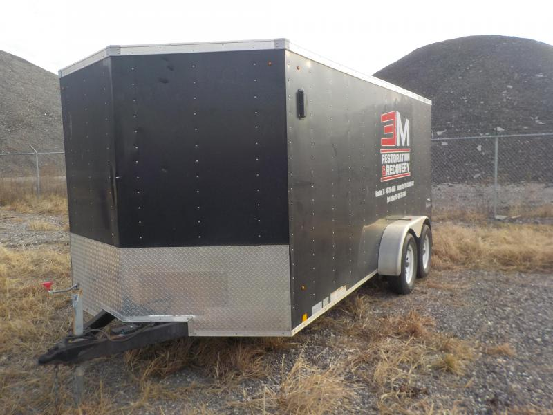 2012 Look Trailers 7x16 Enclosed Cargo Trailer
