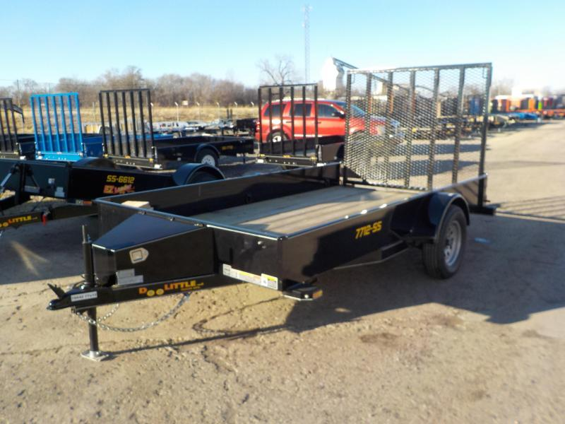2019 Doolittle Trailer Mfg 77x12 black Utility Trailer