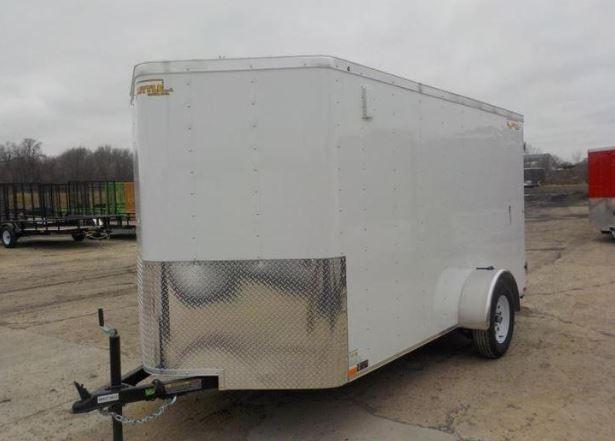 2019 Doolittle Trailer Mfg 6x12 CARGO WHITE S/A Enclosed Cargo Trailer