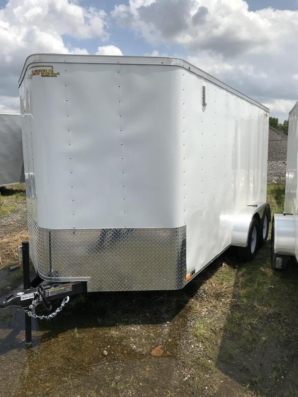 2019 Doolittle Trailer Mfg 7X14 White T/A Enclosed Cargo Trailer