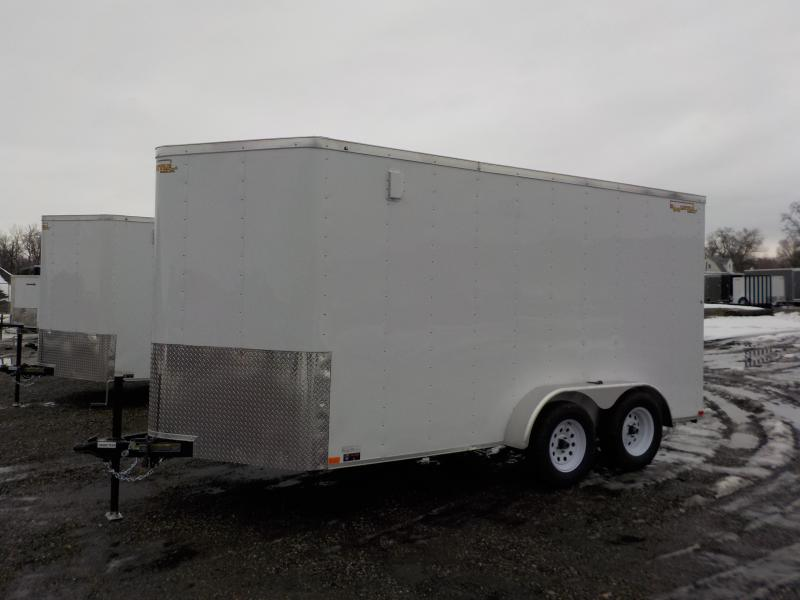 2019 Doolittle Trailer Mfg 7X14 White T/A Enclosed Cargo Trailer