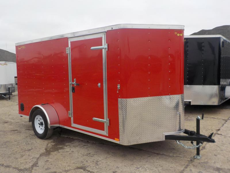 RENTAL - 2019 Doolittle Trailer Mfg 6x12 CARGO RED S/A Enclosed Cargo Trailer