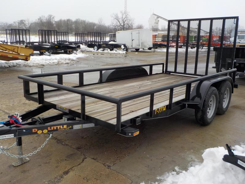 2019 Doolittle Trailer Mfg 77x14 7k Black Utility Trailer