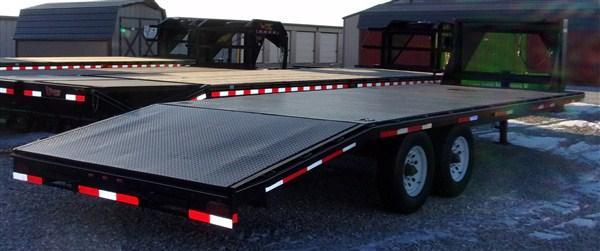 Used 2001 Hefty 8 x 20+5 Dove 14K Flatbed Deckover Trailer