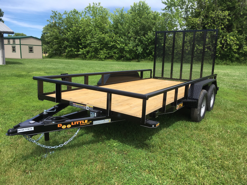 2019 Doolittle Trailer Mfg 77 x 14 PIPE RAIL Utility Trailer 7000 GVWR