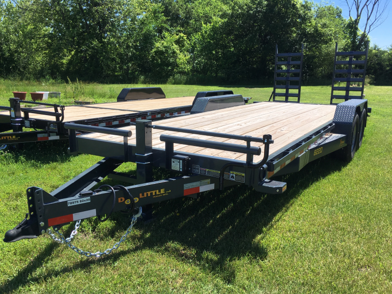 "New 2019 Doolittle 82"" x 18+2 14000 GVWR Dove Xtreme Equipment Trailer"