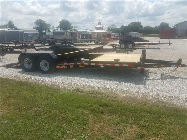 New 2019 Doolittle 82 x 16 TILT + 6 STATIONARY EZ LOADER GT EQUIPMENT TRAILER