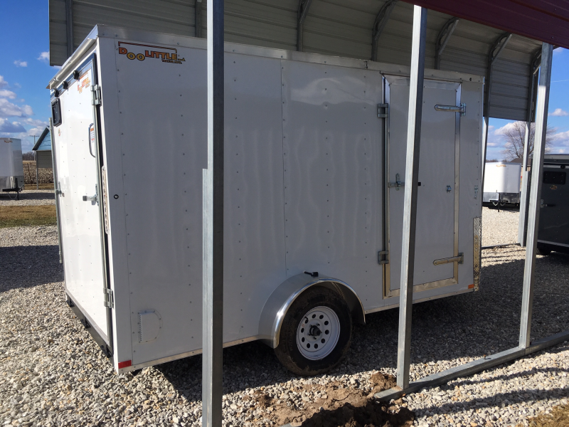 2019 DooLittle 7 x 12  REAR RAMP DOOR Enclosed Cargo Trailer
