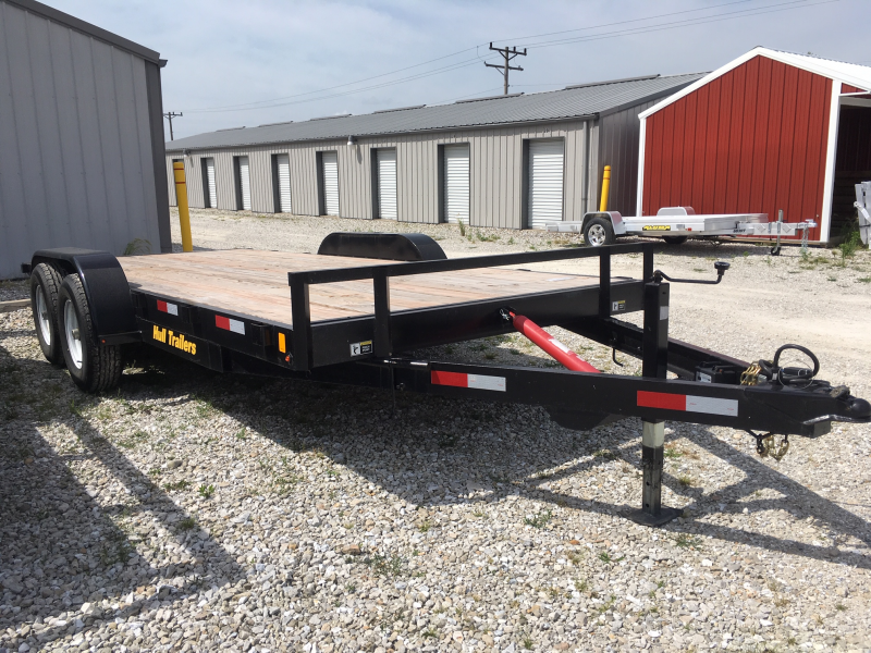 "USED 2018 Hull 82"" X 18' TILT Equipment Trailer 10000 GVWR"