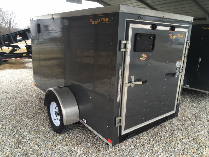 2019 Doolittle Trailer Mfg 5' X 10' RAMP DOOR Enclosed Cargo Trailer