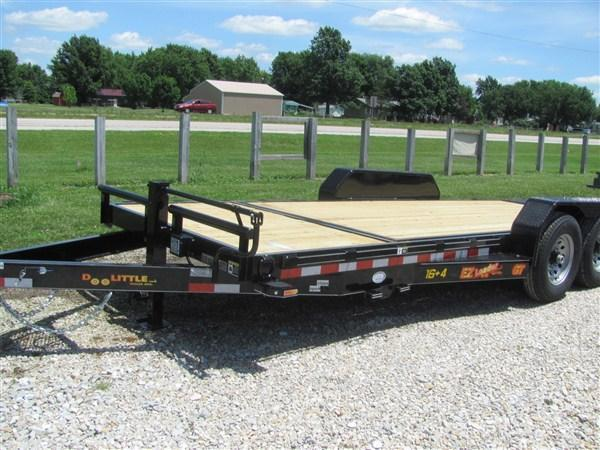 "New 2019 Doolittle 82"" x 16+4 14000 GVWR EZ Loader GT Equipment Trailer"