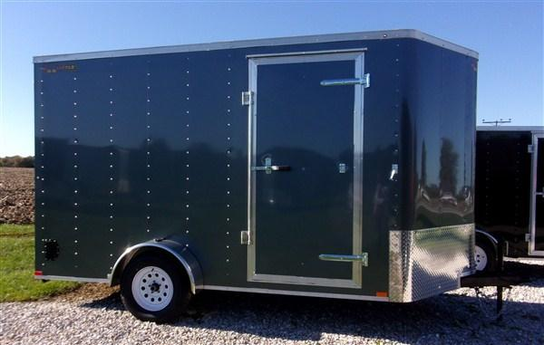 New 2019 Doolittle 7 x 12 Bullitt Rear Ramp Door Enclosed Cargo Trailer