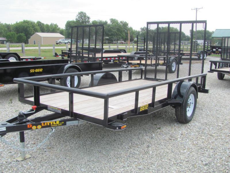 2019 Doolittle Trailer Mfg 66 x 12 Pipe Rail Utility Trailer