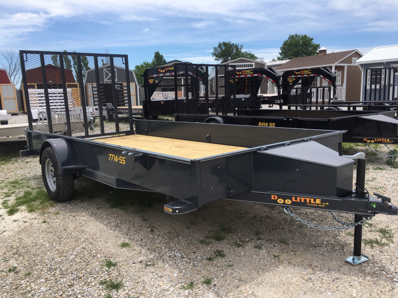 New 2019 Doolittle 77 x 14 SS SERIES S/A UTILITY TRAILER + SPARE MOUNT