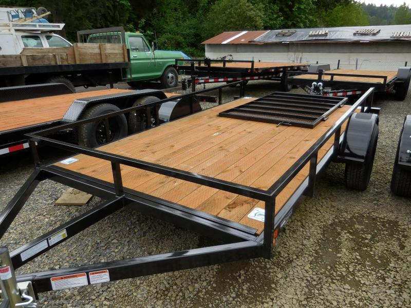 2016 Iron Eagle Economax 6.5x12 Open Flat Bed Utility Trailer