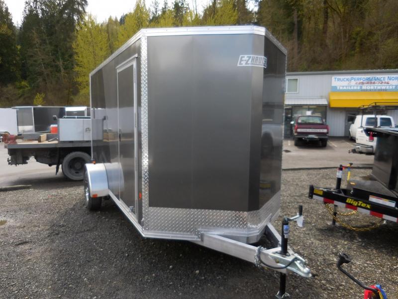 2017 6x12 EZ-Hauler Enclosed Cargo Trailer Charcoal/ Black