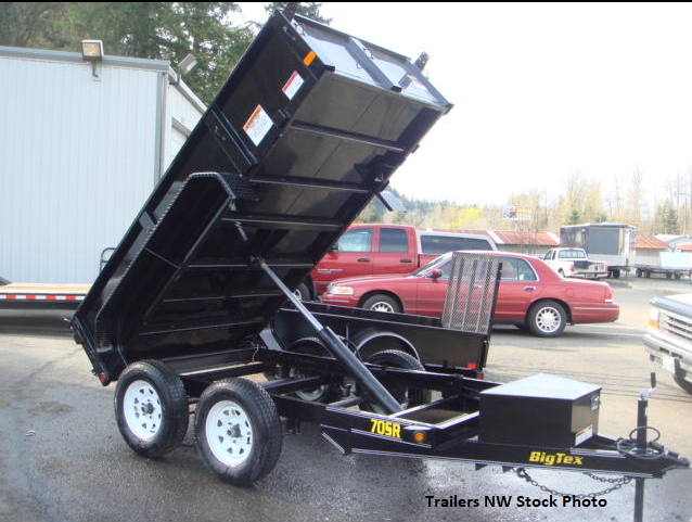 2018 Big Tex 70SR 6x10 Dump Trailer with Rear Spreader & Tailgate