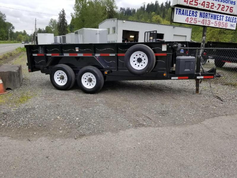 "Used 2015 ABU 82"" x 14' Dump Trailer with Ramp and Tarp Kit"