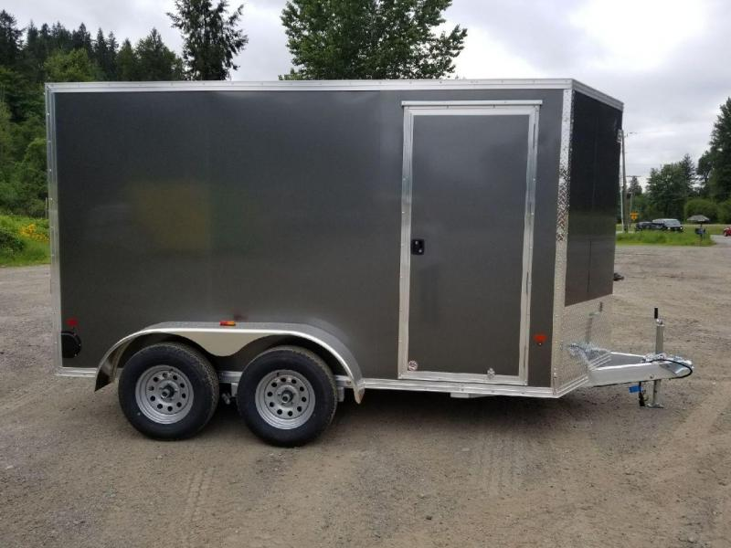 2018 EZ Hauler 6X12 TA All-Aluminum 7K Enclosed Cargo Trailer - Rear Ramp