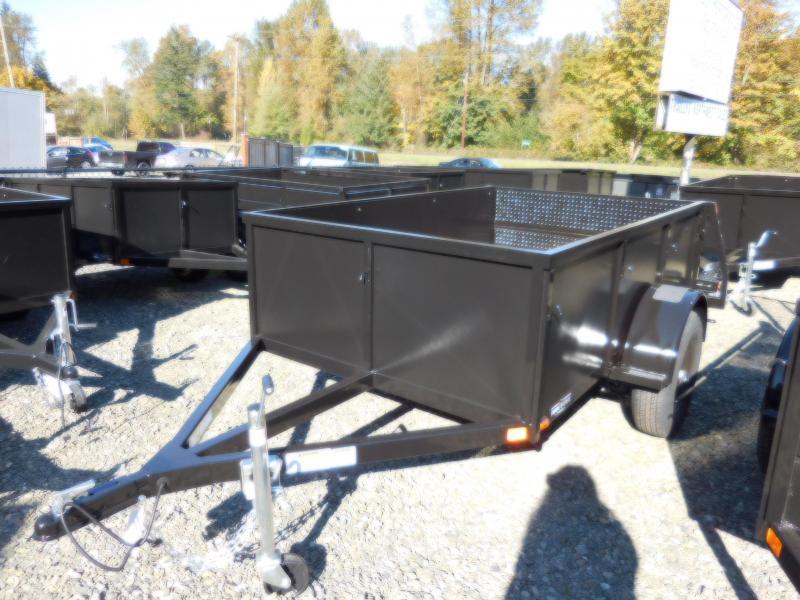 2019 Iron Eagle Voyager Series 5x8 Utility Trailer - Split Ramp Tailgate