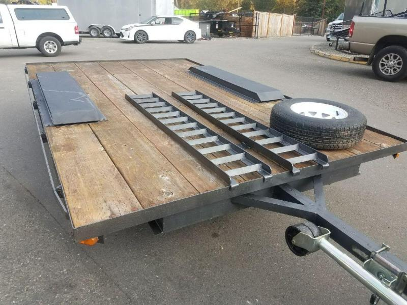 Used 1995 Homemade 7x12 Deckover 7K Flatbed Trailer