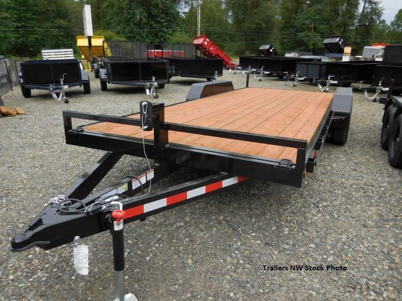 2018 Iron Eagle 7x18 10k Series Flatbed Trailer