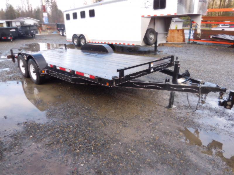 Used 2006 ABU 18' Flatbed Trailer with Ramps