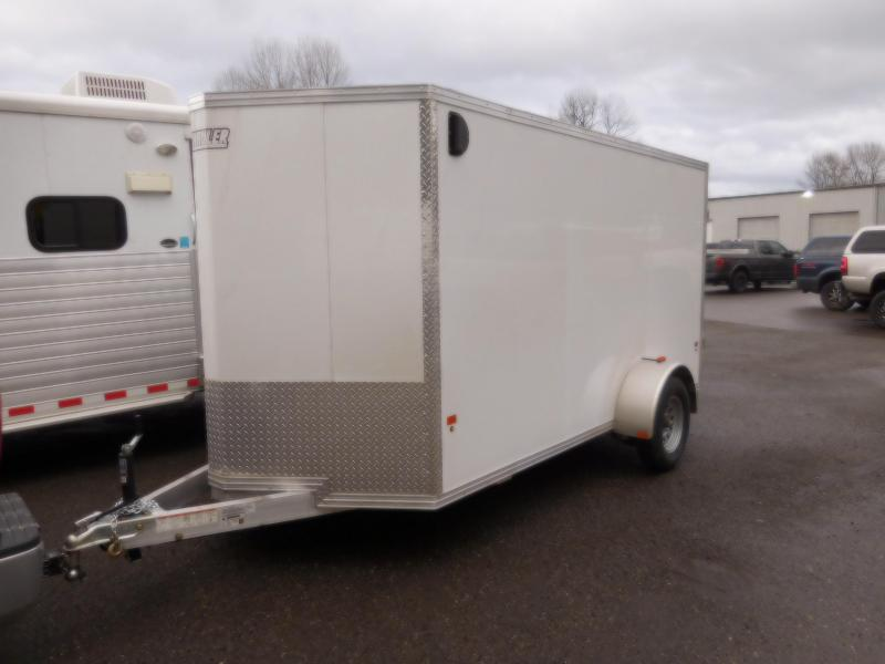 2018 EZ Hauler 6x12 All Aluminum Enclosed Cargo Trailer with Rear Barn Doors