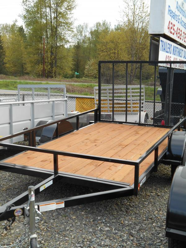 2014 Iron Eagle Economax 6x10 Open Flat Bed Utility Trailer