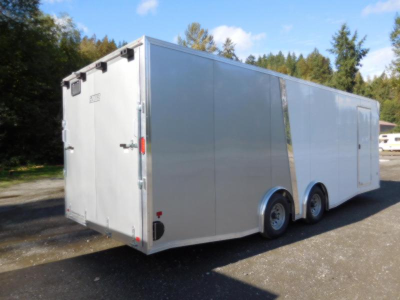 2019 EZ Hauler 8x24 All-Aluminum Enclosed Car Hauler Cargo Trailer